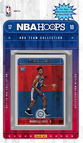 fan products of Philadelphia 76ers 2017 2018 Hoops BasketballFactory Sealed 10 Card Team Set with Joel Embiid, Ben Simmons, Markelle Fultz Rookie plus
