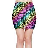 Girl Sexy Mini Skirt Knit Rainbow Animal Zebra Print