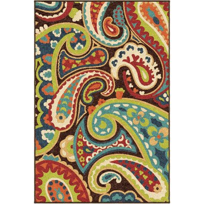 Promise Monteray Paisley Multi-colored Rug 5 2 x 7 6