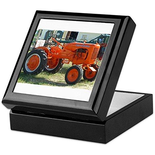 CafePress - 1937 Allis Chalmer Tractor - Keepsake Box, Finished Hardwood Jewelry Box, Velvet Lined Memento Box -
