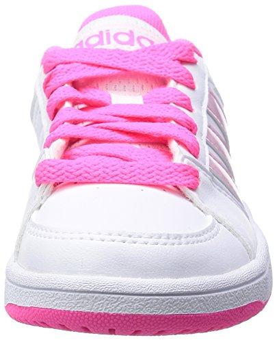 Adidas Hoops Vs K - Zapatillas Para Hombre Blanco / Rosa