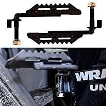 Iparts IParts Black Steel Foot Pegs for Jeep Wrangler (New Black)