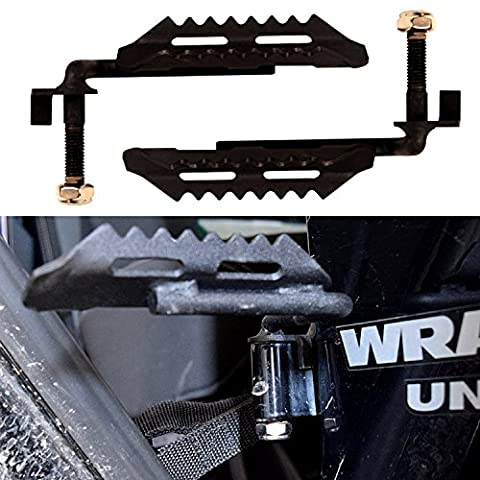 IParts a Pair of Foot Pegs for Jeep Wrangler JK JKU Unlimited Rubicon Sahara X Off Road Sport Exterior Accessories Parts 2007 2008 2009 2010 2011 2012 2013 2014 2015 2016 (2013 Jeep Parts)