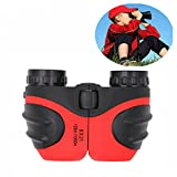 Birthday Gifts for Boys, DIMY 8x21 Compact Fogproof Binoculars for Hiking Hunting Red DL04