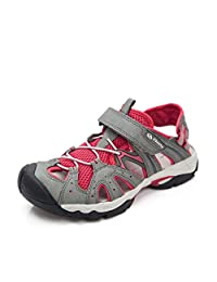 Clorts Women's Outdoor Amphibious Sandals Closed-Toe Hiking Sandal Whisper Sport Sandals Anti-skid Ventilate Quick-drying Hiking Beach Water Shoes SD207