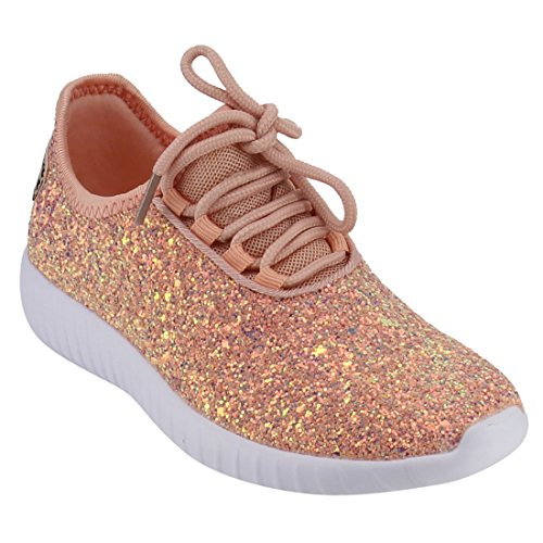 Link Remy18k Lace up Rock Glitter Fashion Sneaker,Dust - Shoes Fashion Kids Girls