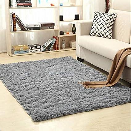 YOOMAT Faux Fur Area Rug Anti-Skid Shaggy Carpets Sofa ...