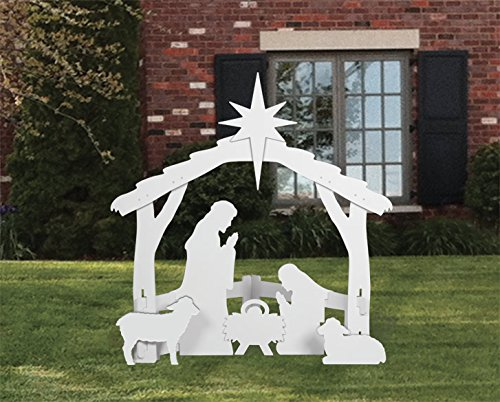 Front Yard Originals Outdoor Nativity Set, Large - White
