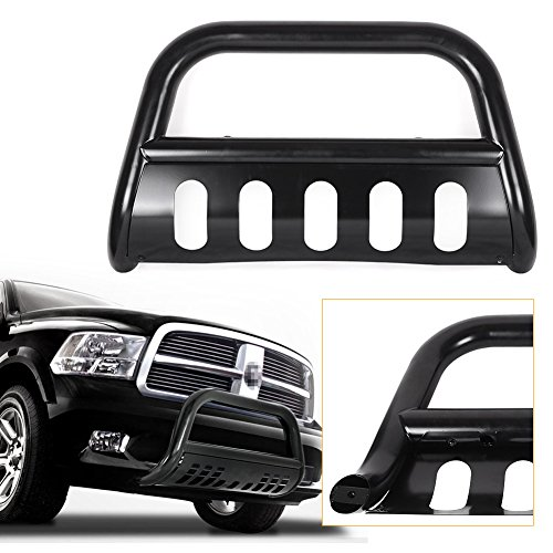 Mallofusa Black Front Push Bumper Bull Bar Guard Stainless Steel for 1994-2001 Dodge Ram 1500 / 1994-2002 Dodge Ram 2500 3500