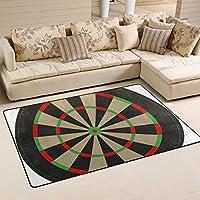 LORVIES Dart Board Vecteezy Area Rug Carpet Non-Slip Floor Mat Doormats for Living Room Bedroom 60 x 39 inches