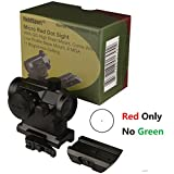 FieldSportI Micro Red Dot Sight With QD Riser Mount, Dual Layers of Glass,4 MOA, 11 Brightness Setting,RED ONLY NO GREEN and come with a Low Profile Base