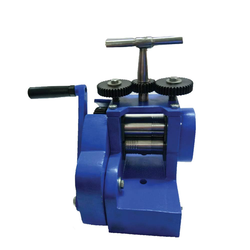 Compact Rolling Mill Machine Basic 3'' (80mm) with 2 Rollers Assembled Flat & Wire Jewelry Press Tabletting DIY Tool