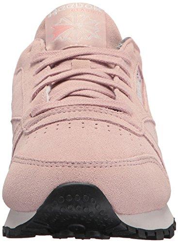 Reebok Womens CL Lthr W&w Sneaker Shell Pink/Whisper Grey/Leather 4YTOFZWPDf