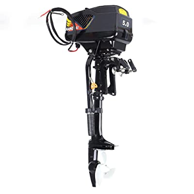 SOFEDY Boat Engine 4 Stroke 3.0HP Heavy Duty Outboard Motor Boat Engine 54CC W//Air Cooling System Used for Small Inflatable Boat