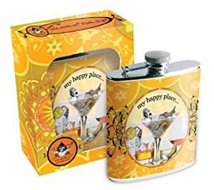 Erin Smith Flask and Funnel, My Happy Place.. , 7-Ounce