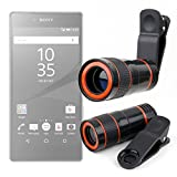 DURAGADGET Pocket Sized Miniature Telephoto Zoom Lens Clip Kit - Compatible with NEW Sony Xperia Z5 | Z5 Compact | Z5 Premium | M5 | C5 Ultra | Z4v | C4 | M4 Aqua