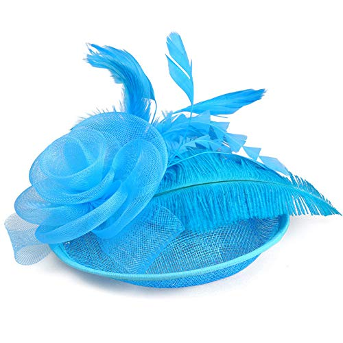 Hemp Hat Gauze Ostrich Feather Wedding Accessories Bridal