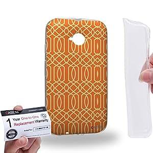 Case88 [Motorola Moto E (2nd Gen.)] Gel TPU Carcasa/Funda & Tarjeta de garantía - Art Carpet And Tapestry Flame Art2011