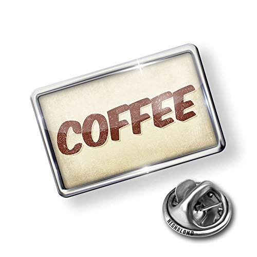 discount Pin Coffee, Vintage style - Lapel Badge - NEONBLOND save more
