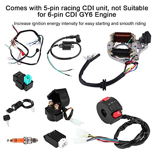wiring harness kit for atv 50cc 70cc 90 110cc 125cc cdi coil wiring harness assembly kit atv  50cc 70cc 90 110cc 125cc cdi coil