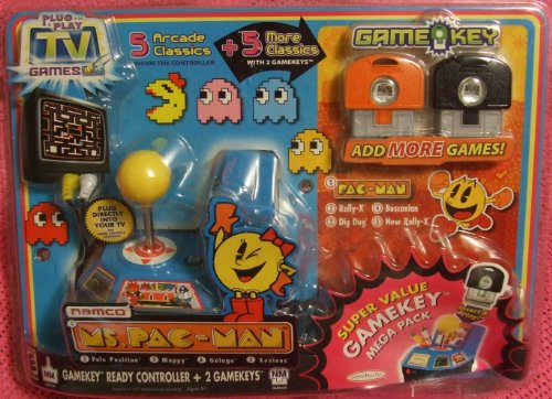Jakks Namco Ms. Pac-Man Plug & Play Super Value Gamekey M...