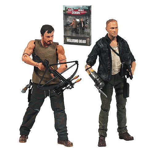 2013 Walking Dead TV Merle and Daryl Dixon Action Figure 2-Pack -