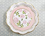 100 SETS of 8 Pink Tea Time Whimsy Paper Plates