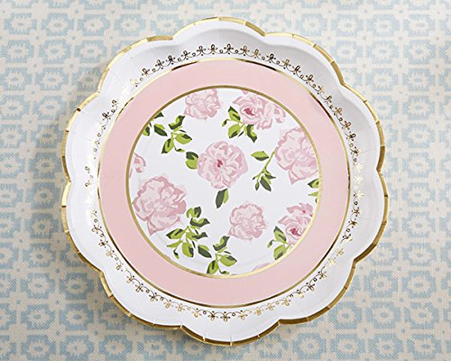 40 SETS of 8 Pink Tea Time Whimsy Paper Plates by Kate Aspen