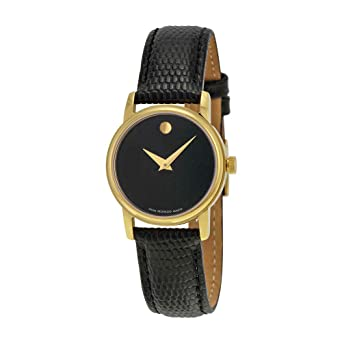 4eae54a3979e8 Image Unavailable. Image not available for. Color  Movado 2100006 Womens Museum  Gold Tone Stainless Steel Case Leather Strap ...