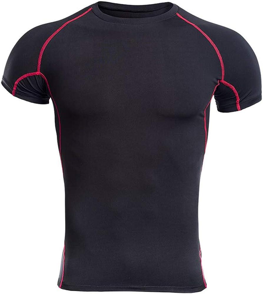 HEXIN Mans Bodysuit Short Sleeve Compression T-Shirt Sport Slimming Bodysuitp Tank Bodysuit Hide Gynecomastia Moobs
