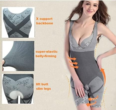 cbc3c6faf06 Buy Java Full Body Waist Trimmer Bamboo Shaper Bodysuits Corsets Women s  Shapewear XL Size Online at Low Prices in India - Amazon.in