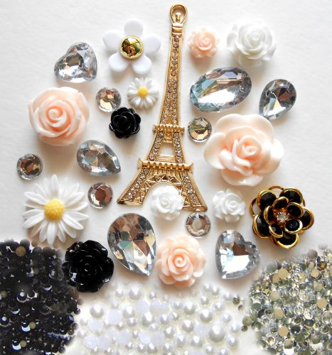 Diy Bling Phone (LOVEKITTY DIY 3D Eiffel Tower Bling Cell Phone Case Resin Cabochons Deco Kit /)
