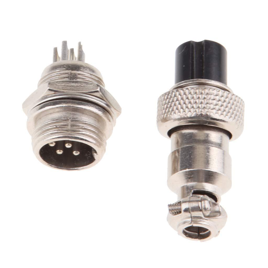 F Fityle 1 par Conector de aviaci/ón de 2 Pines Macho + Hembra 2 Pins
