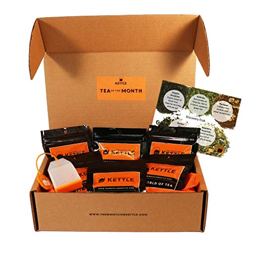 (Tea Lover Gift Sampler Box - Tea of the Month Club Subscription Box - Assorted Loose Leaf Teas - 3 Month Subscription)
