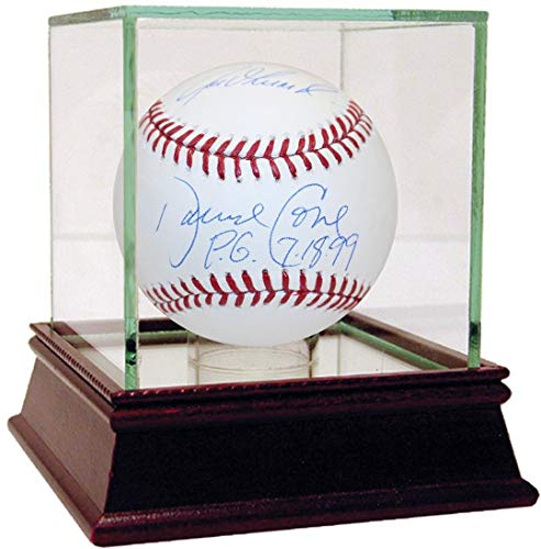 David Cone/Joe Girardi Autographed Signed Baseball with PG Inscription Autographed Signed Auth - Authentic Signature