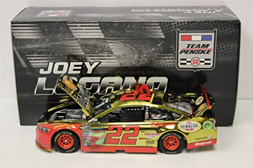 Lionel Racing Joey Logano #22 Shell-Pennzoil 2016 Ford Fusion NASCAR Color Chrome 1:24 Scale Diecast (Chrome Diecast Car)