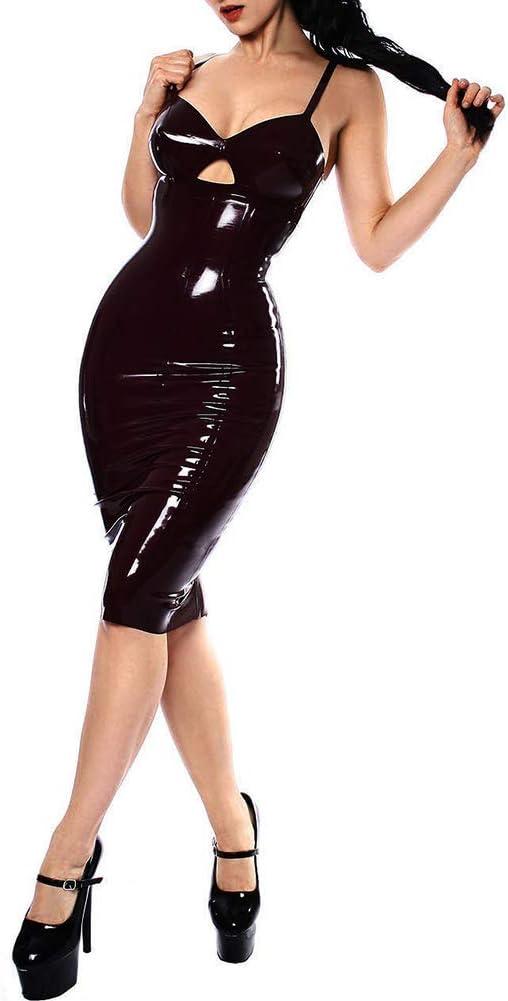 G.N Sujetador de lencería para Mujer Mini Falda de Charol de PVC ...