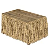 Kitchen & Housewares : Raffia Table Skirting (natural) Party Accessory  (1 count) (1/Pkg)