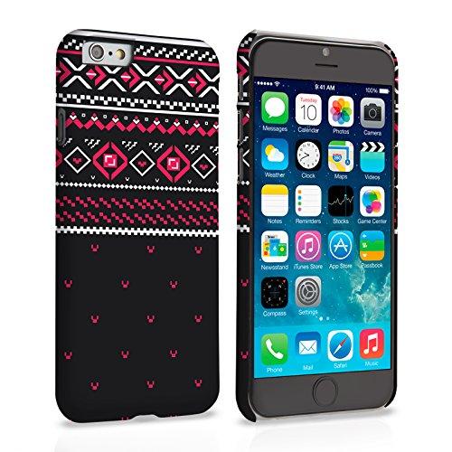 Caseflex iPhone 6 Plus / 6S Plus Hülle Rot / Schwarz Fair Isle Jumper Hart Schutzhülle (Kompatibel Mit iPhone 6 Plus / 6S Plus - 5.5 Zoll)