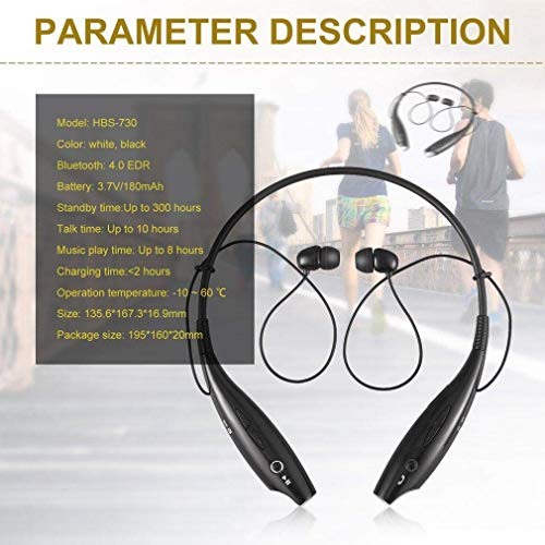 NeerStorm HBS 730 Wireless Bluetooth in Ear Headset with Mic, Magnetic Earbuds, Neck Band for All Android