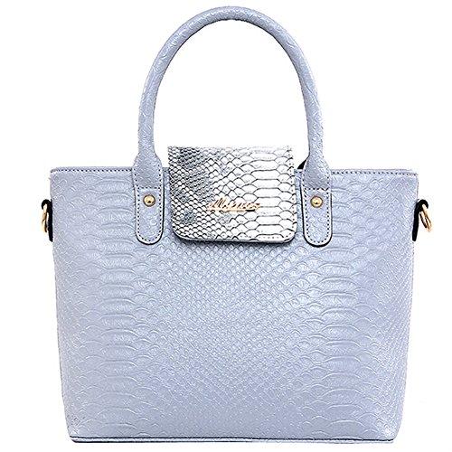 Bzybel Womens Fashion Top Handle Satchel Handbags Shoulder Bag Top Handle Purse Crossbody Designer Tote Bag 6 Sets