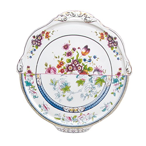 Seletti Hybrid Dorotea Round Tray - Porcelain - 13.78 Inches - Hybrid Round Table