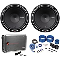 (2) Rockford Fosgate Punch P2D4-15 1600w 15 Subwoofers+Mono Amplifier+Amp Kit