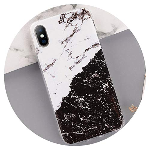 Marble Phone Case for iPhone Soft TPU Silicone Cases for iPhone X 8 7 6 6S Plus 5 5S Se Colorful Stone Image Back Cover,S 1769,for iPhone 8 - Sailor 5 Moon Touch Case Ipod
