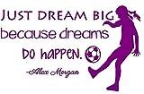Alex Morgan Soccer Quote   Girl's Vinyl Wall Decal / Decor - USA World Cup Football Decoration - 20''x12'' [V12]
