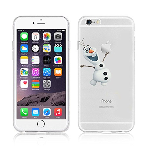 DISNEY FROZEN & PRINCESS CLEAR TPU SOFT CASE FOR APPLE IPHONE 7 OLAF 1