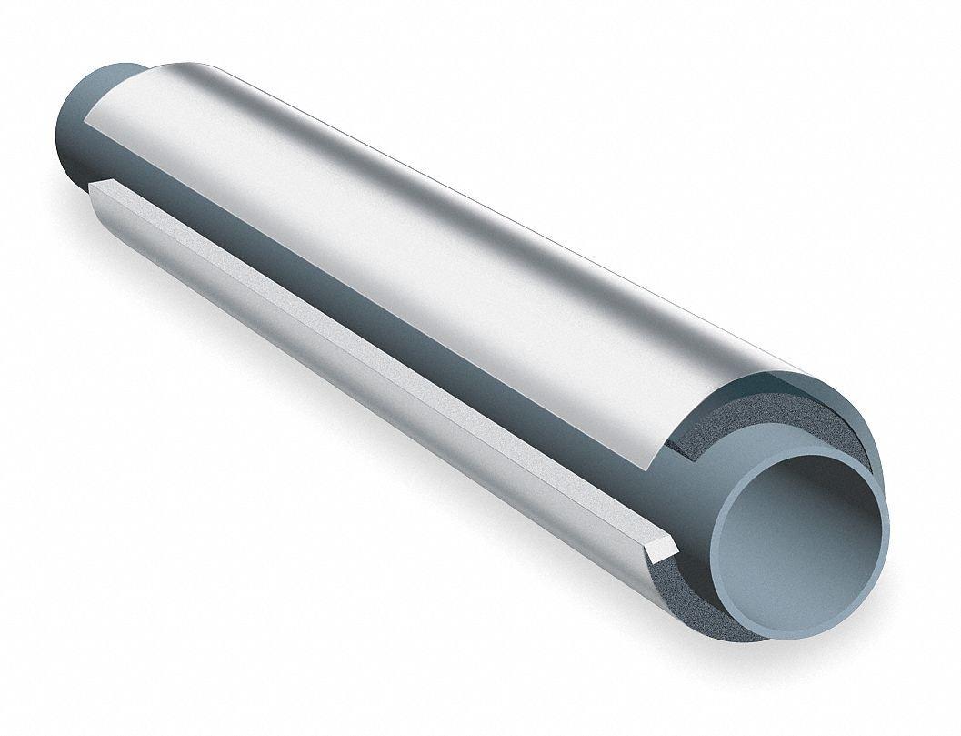 1/2'' Thick, Pre-Slit/Pre Glued NBR/PVC Pipe Insulation, 3 ft. Insulation Length