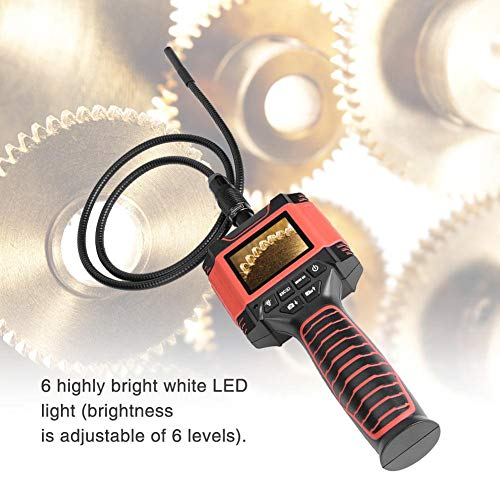 Akozon Endoscopio de mano 8.5mm 1M, TFT LCD Pantalla de 2.4 pulgadas Inspección Cámara con 6 LED, Portátil Industrial Caseros Endoscopios (99D3): Amazon.es: ...