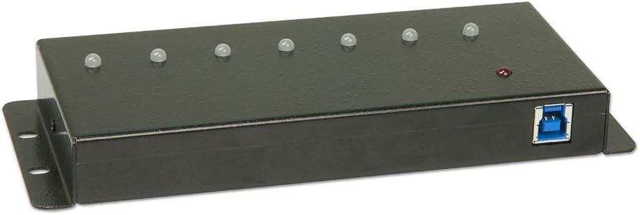 Metal LINDY-USA USB 3 0 Industrial 7 Port Hub