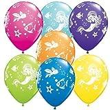 Merry Mermaid & Friends Qualatex 11 Inch Latex Balloons x 5 by Qualatex